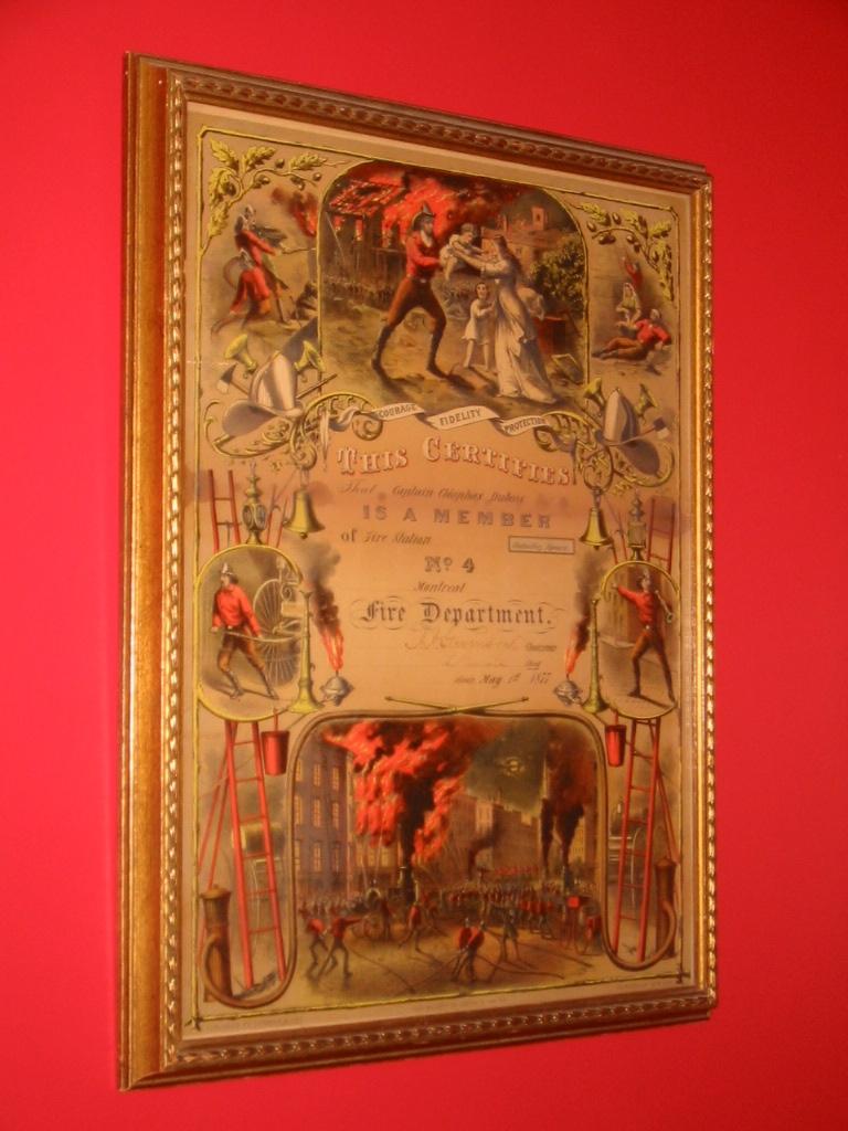Musée 2e étage Diplôme d'un membre 1877