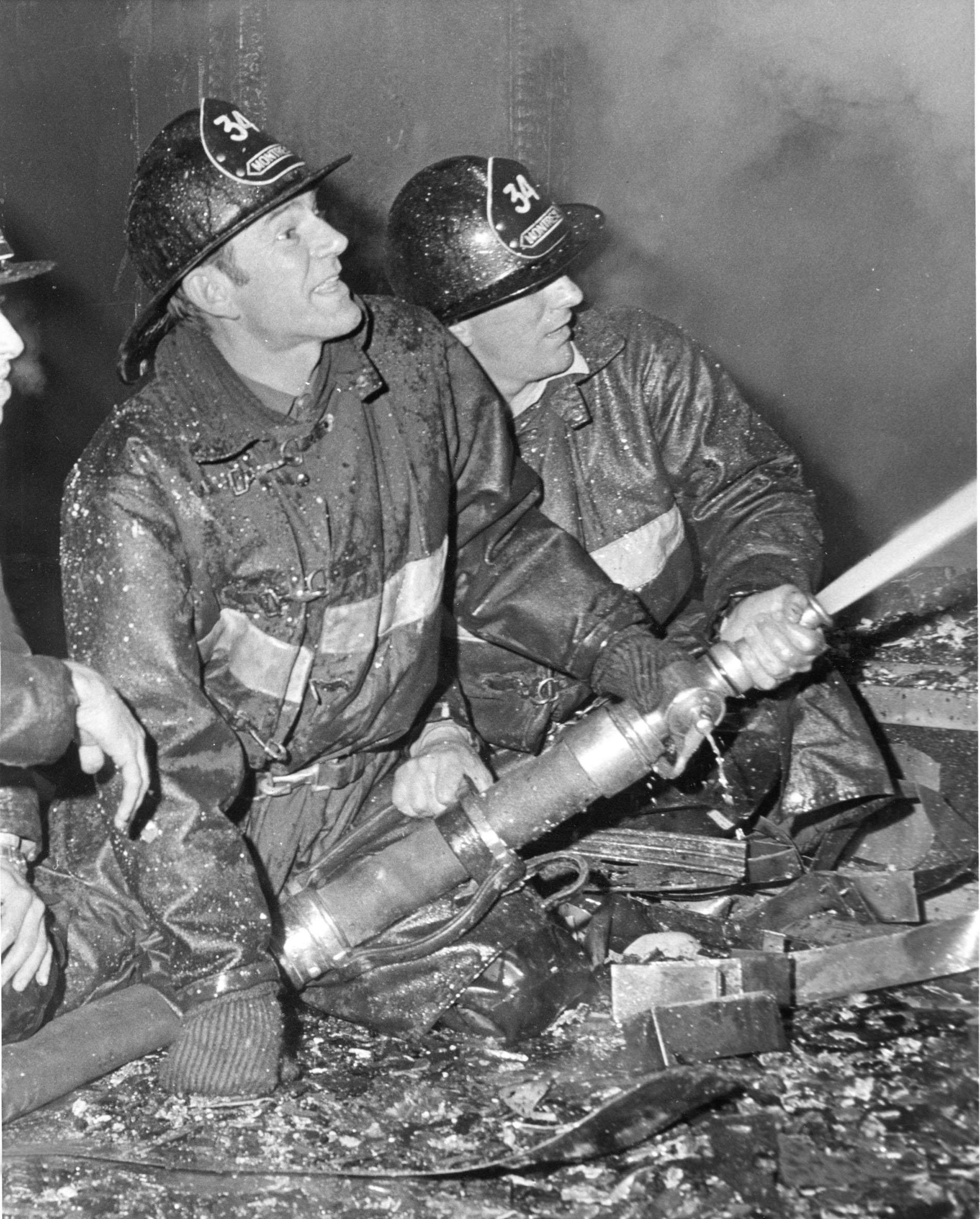 Pompiers au feu
