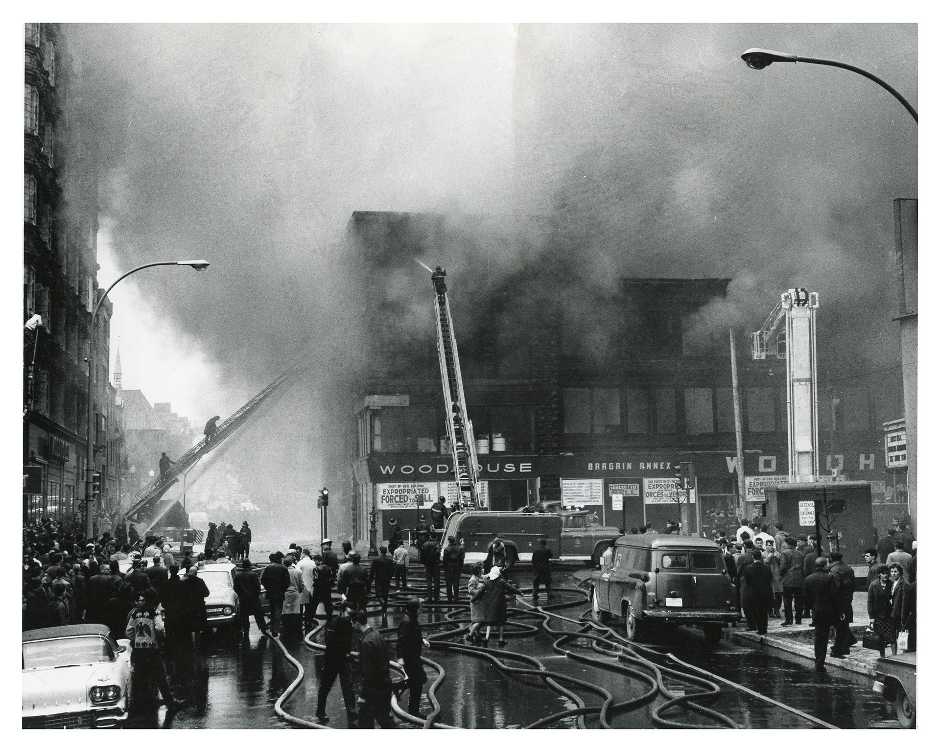 Woodhouse fire April 1963